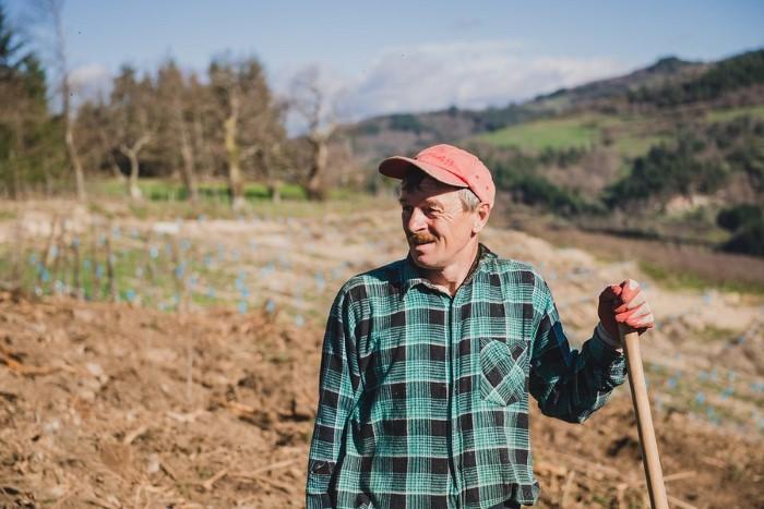 Photographie portrait d'un salarié de l'agriculture