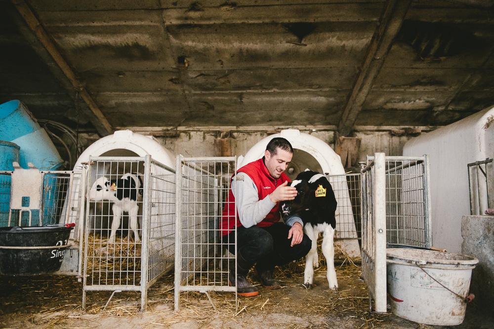 Portrait photo en agriculture pour Bresse Bleu