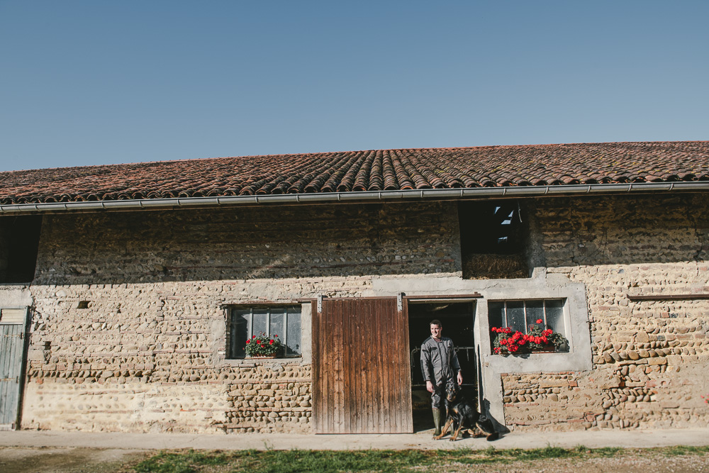 Portrait photo d'éleveurs pour Bresse Bleu