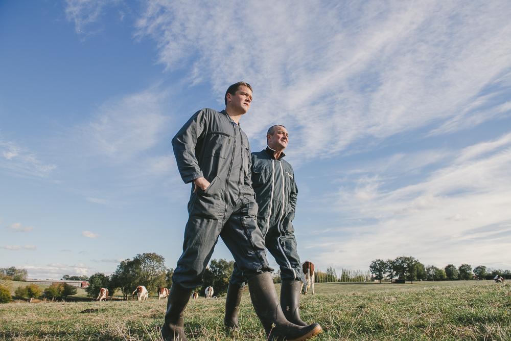 portraits photo éleveurs pour Bresse Bleu